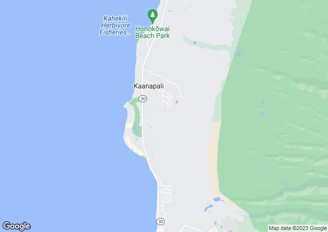 Map for Hawaii, Maui County, Lahaina