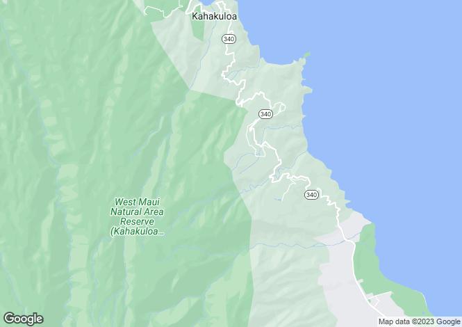 Map for Hawaii, Maui County, Wailuku