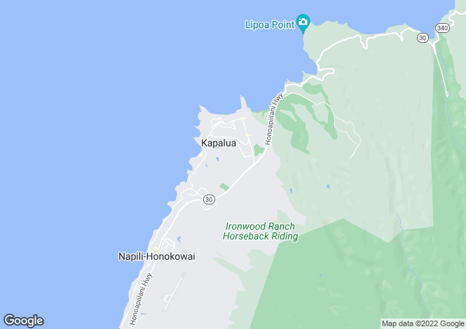 Map for Hawaii, Maui County, Lahaina