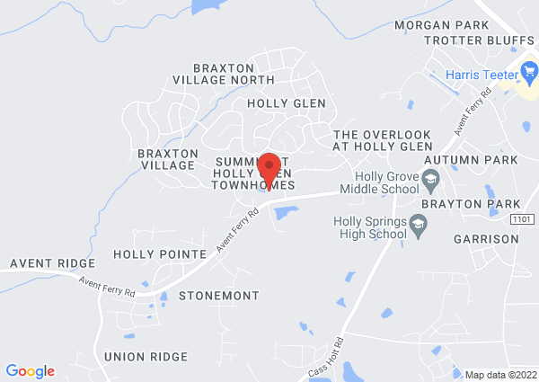 Map of 201 Hollymont Drive, Holly Springs, NC, USA