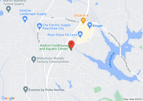 Map of 202 Fieldhouse Drive, Peachtree City, GA 30269, United States