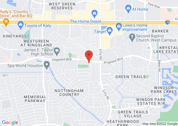 Map of 20201 Kingsland Blvd, Katy, TX 77450, USA