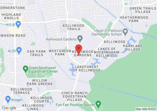 Map of 20502 Rose Hollow Drive, Katy, TX, USA