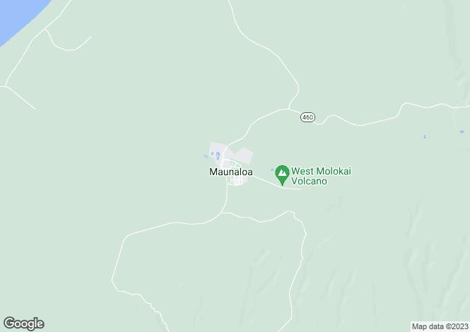 Map for USA - Hawaii, Maui County, Mauna Loa