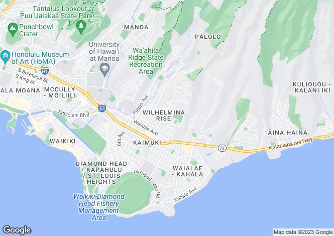 Map for Hawaii, Honolulu County, Honolulu