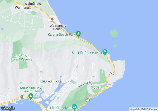 Map for USA - Hawaii, Honolulu County, Honolulu