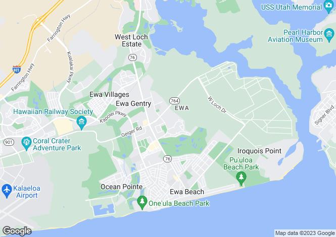 Map for USA - Hawaii, Honolulu County, `Ewa Beach