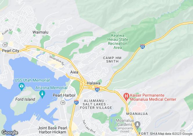 Map for USA - Hawaii, Honolulu County, `Aiea