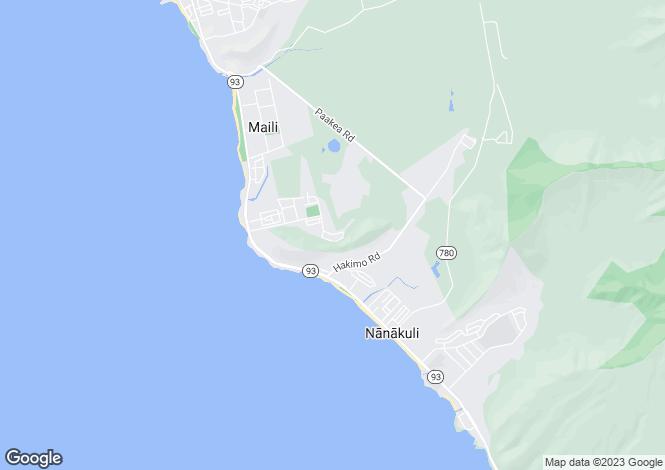 Map for USA - Hawaii, Honolulu County, Wai`anae