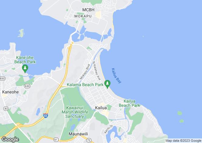 Map for Hawaii, Honolulu County, Kailua