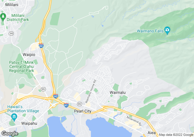 Map for USA - Hawaii, Honolulu County, Pearl City