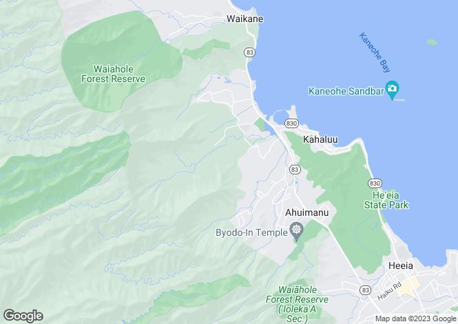 Map for Hawaii, Honolulu County, Kane`ohe