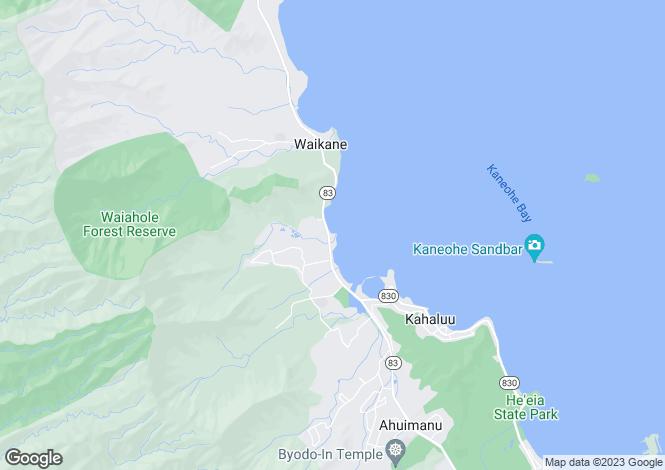 Map for USA - Hawaii, Honolulu County, Kane`ohe