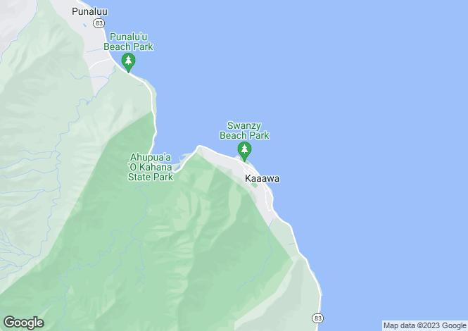 Map for USA - Hawaii, Honolulu County, Ka`a`awa