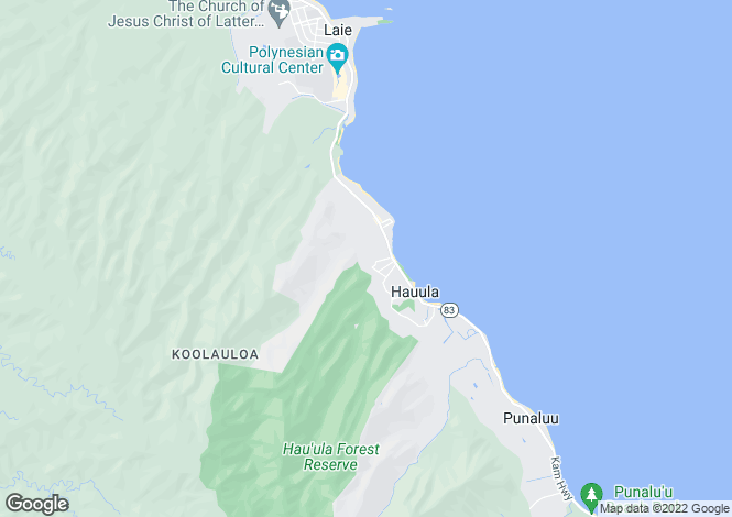 Map for USA - Hawaii, Honolulu County, Hau`ula