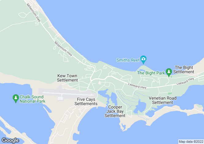 Map for 6 One Loft, Thompson Cove, Providenciales, Turks and Caicos