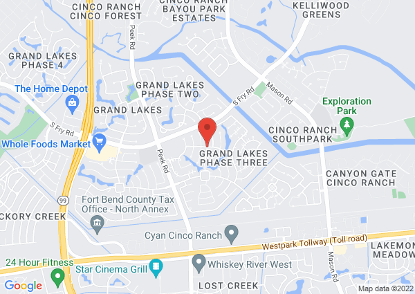 Map of 21715 Grand Brooks Lane, Katy, TX, United States