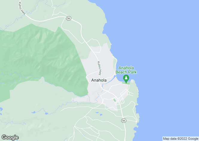 Map for USA - Hawaii, Kauai County, Kilauea