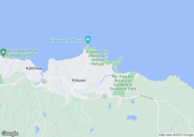 Map for Hawaii, Kauai County, Kilauea