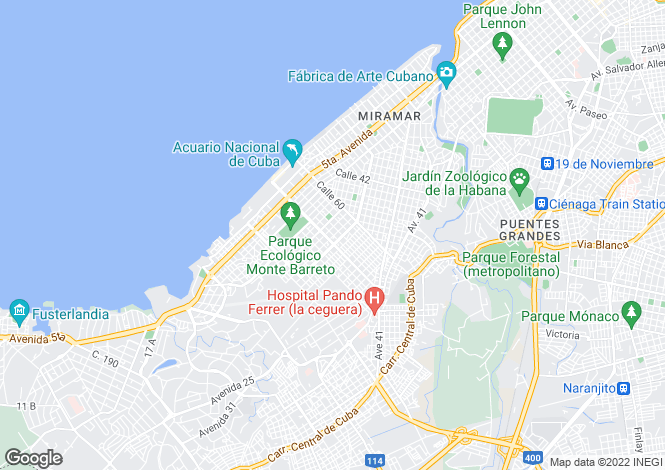 Map for Havana, Playa