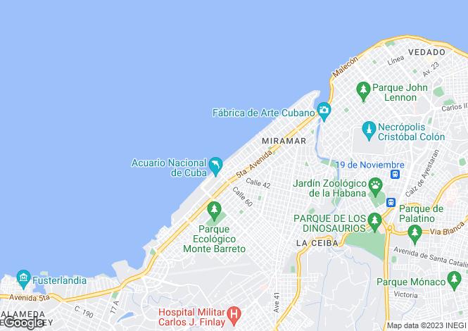Map for Havana, Miramar