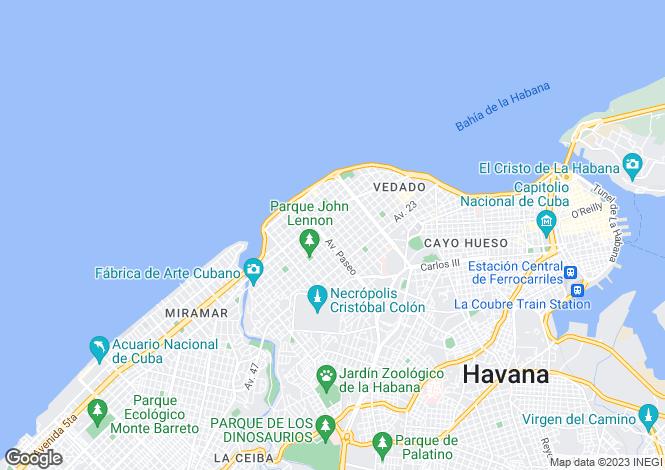 Map for Havana, Vedado