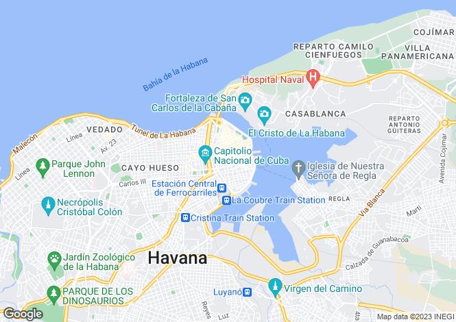 Map for Ciudad de la Habana, Havana