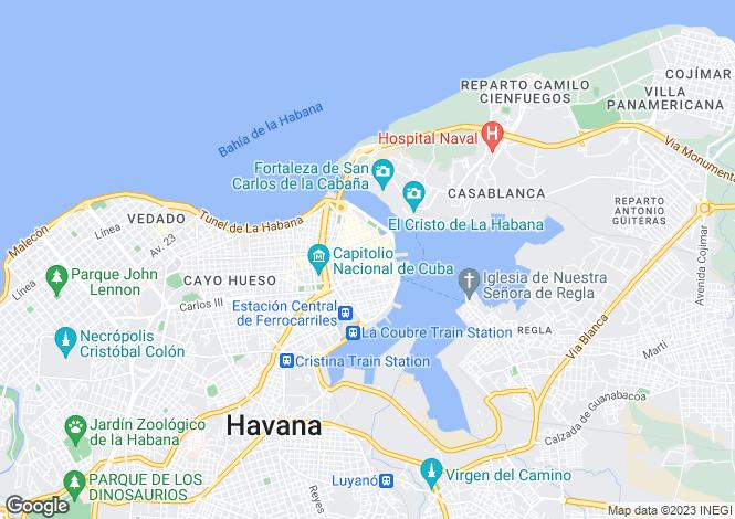 Map for Havana, Old Havana