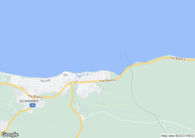 Map for Havana, Guanabo