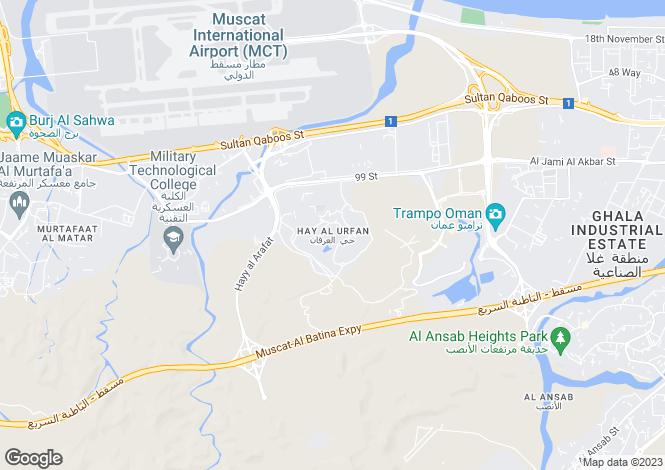 Map for Detached Villa, Muscat Hills, Muscat