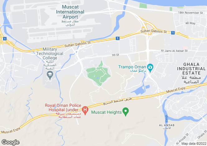 Map for Muscat Hills, Muscat, Oman