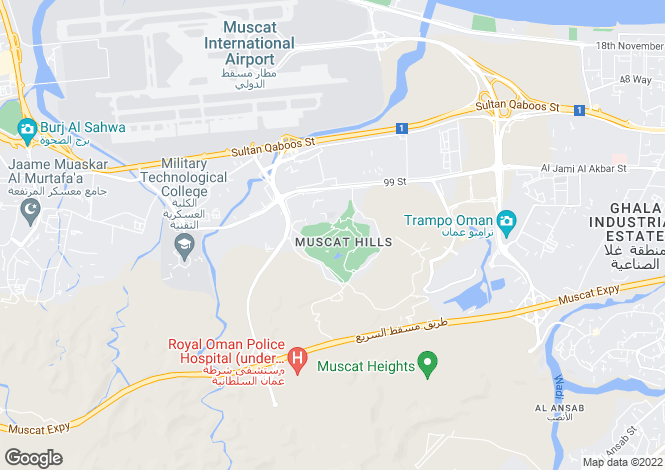 Map for Luxurious Villas, Muscat Hills, Muscat