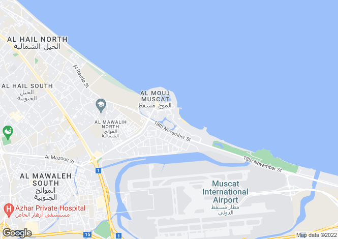 Map for Lake Facing Villa, The Wave, Muscat