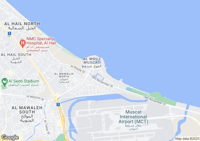 Map for Ghadeer Parks, Al Mouj Muscat, Oman