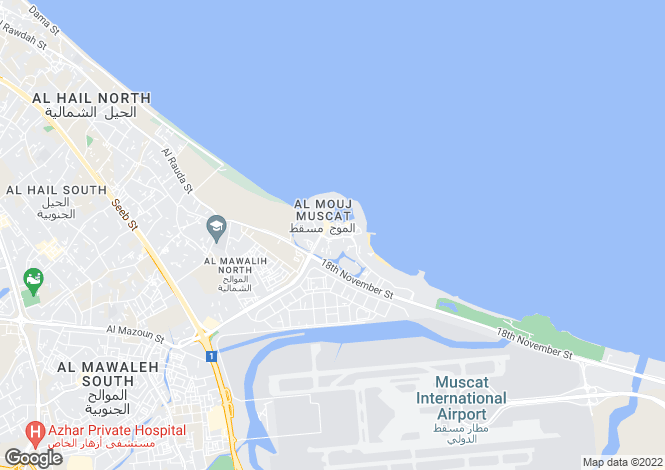 Map for Lake View Villa, The Wave, Muscat