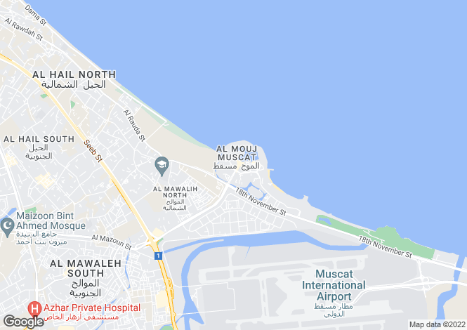 Map for Almeria South 2 Bedroom Apartment, The Wave, Muscat