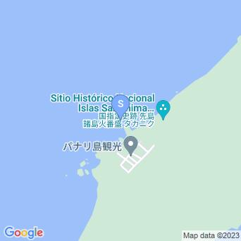 上地島中央岸の地図