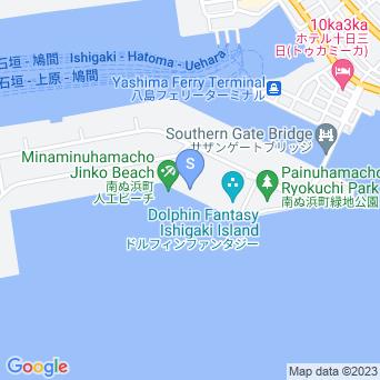 南ぬ浜町ビーチの地図