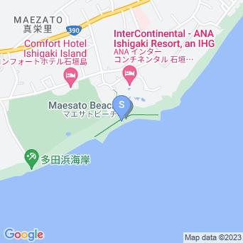マエザトビーチ/人工ビーチ(ホテル側)の地図