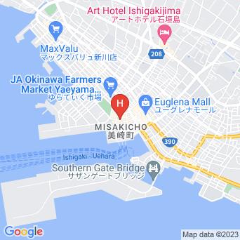 なりわホテルの地図