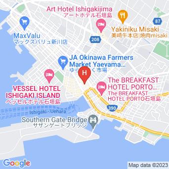 ゲストハウスえみっくす石垣島の地図