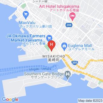 ホテルピースランド石垣島の地図