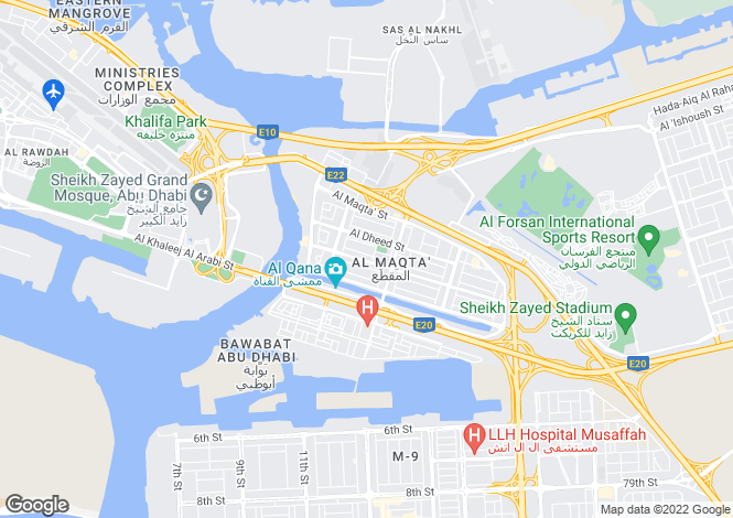 Map for Exclusive Villas, Al Maqta, Abu Dhabi