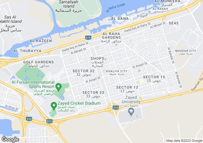 Map for Stunning Mix Of Luxurious Villas, Khalifa City, Abu Dhabi