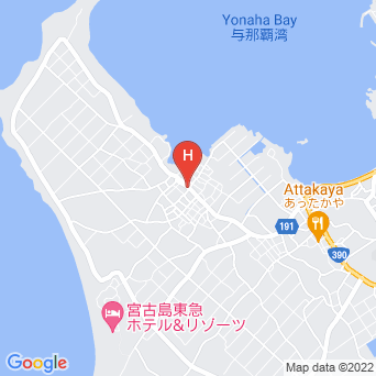 宮古島ゲストハウス YUNAPAの地図
