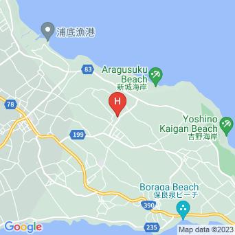 ペンション新城の地図