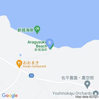 新城ビーチ/新城海岸の地図