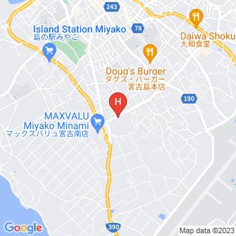 宮古島ウィークリー&ペンション赤崎屋の地図