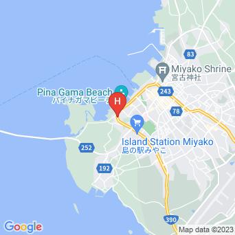 パイナガマビーチ・ハウスの地図