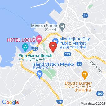 ホテル デ・ラクア宮古島の地図